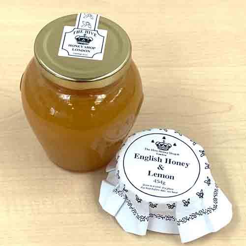 English Honey containing lemon puree
