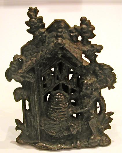 Cast Iron Bear & Hive Savings Bank-Circa – 1940s