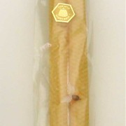 Beeswax Honeycomb Dinner Candles - Pairs (with FREE Bee Pin!)