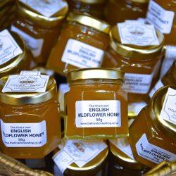 Mini pots of Raw natural British honey