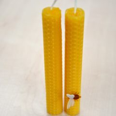 Beeswax Honeycomb Dinner Candles-1
