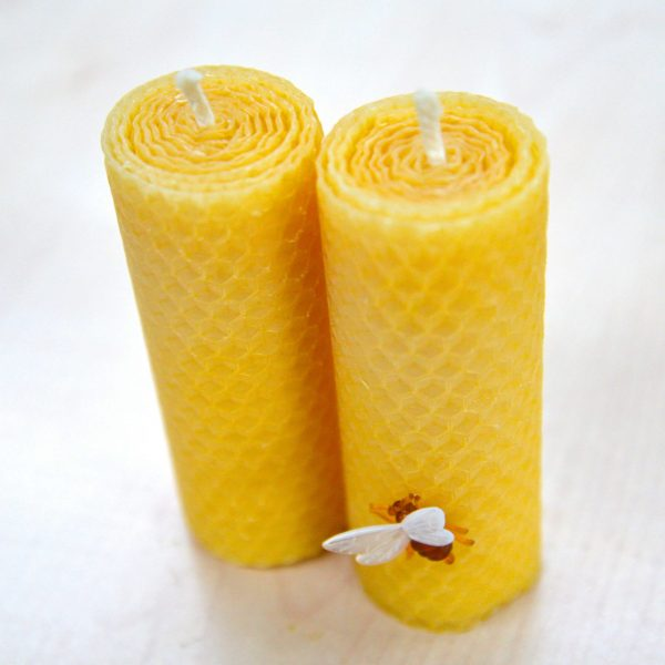 Natural Pure Wide Beeswax Candles