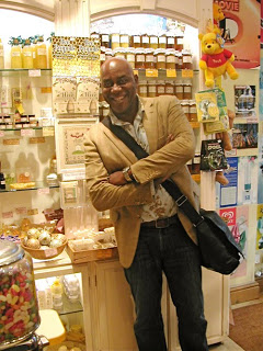 Ainsley Harriott TV Celebrity Chef Films At The Hive Honey Shop Today