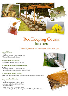 Sign up for June Beekeeping Course- Hurry Limited places!!