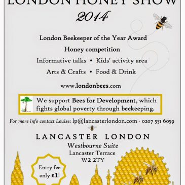 Come To the LONDON HONEY SHOW -October 6th