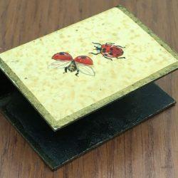 Ladybird enamelled Match box cover