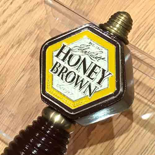 British Pub honey brown keg handle