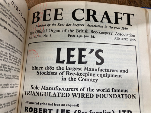 Bee Craft 6 years-3 book set-1962-1967
