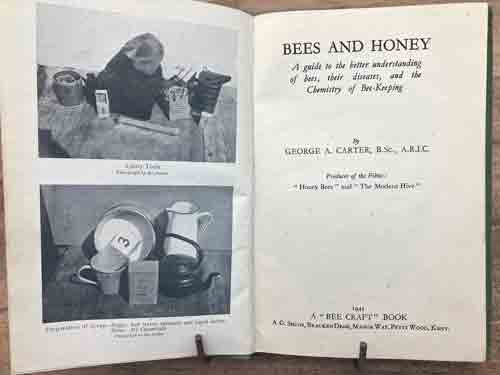 Bees and Honey 1945, Bee Craft Book, b\w plates