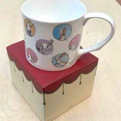 Bone China Mug- 'Bunny Dots'