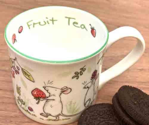 Bone China Mug- 'Fruit Tea'