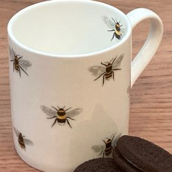 Bone China Mug 'Honeybees' white