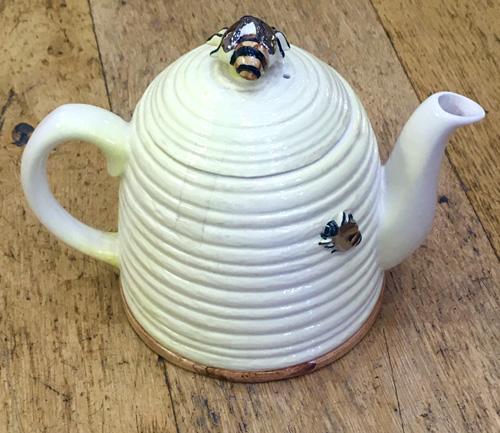 Novelty Skep Beehive Teapot