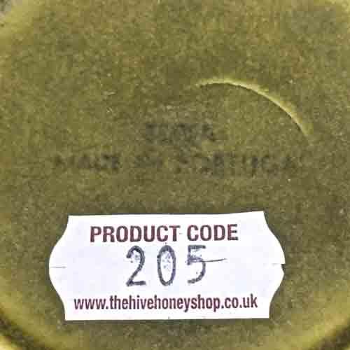 Vintage Secla Green 'Beehive' Honeypot-1970s