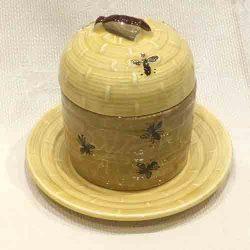 Vintage SMF 'BEEHIVE' Honeypot & Dish
