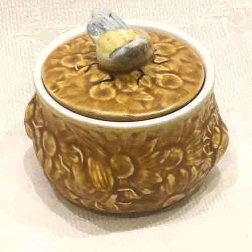 Vintage Secla Brown 'Beehive' Honeypot-1970s