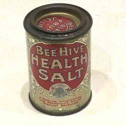 Antique 'Bee Hive' Health Salts Tin- Beehive fruit jellies